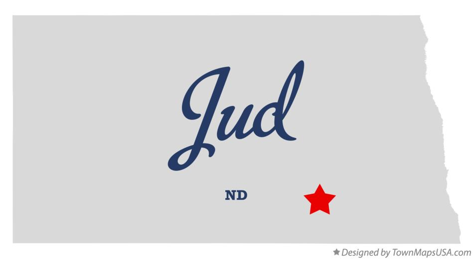 Map of Jud North Dakota ND