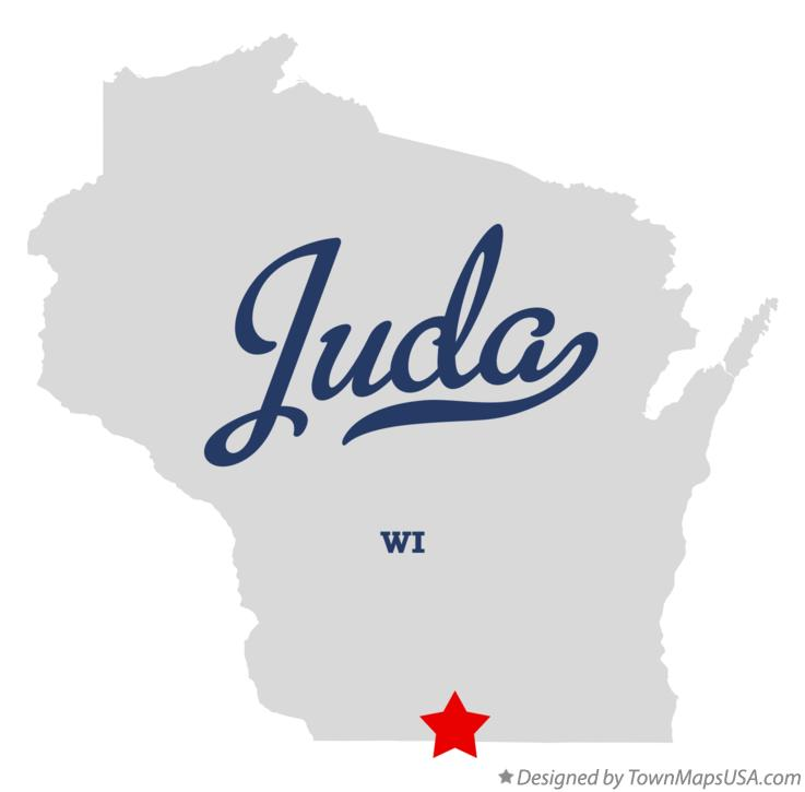 Map of Juda Wisconsin WI
