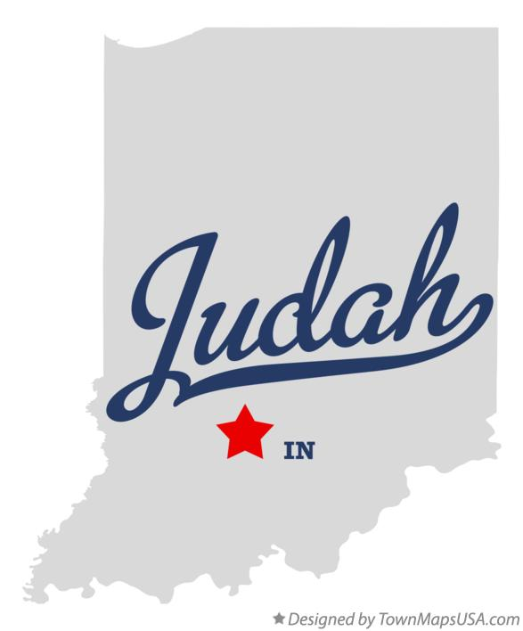 Map of Judah Indiana IN