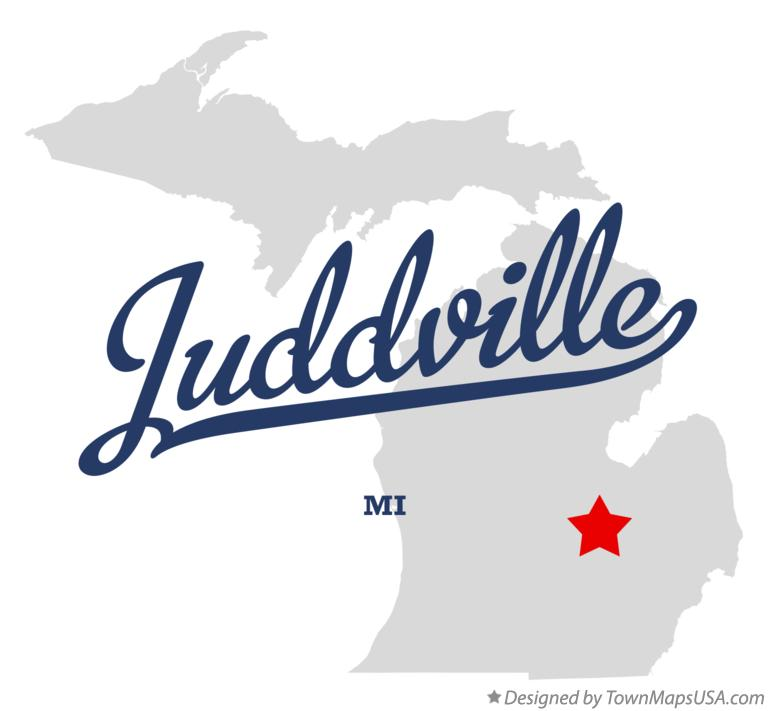 Map of Juddville Michigan MI