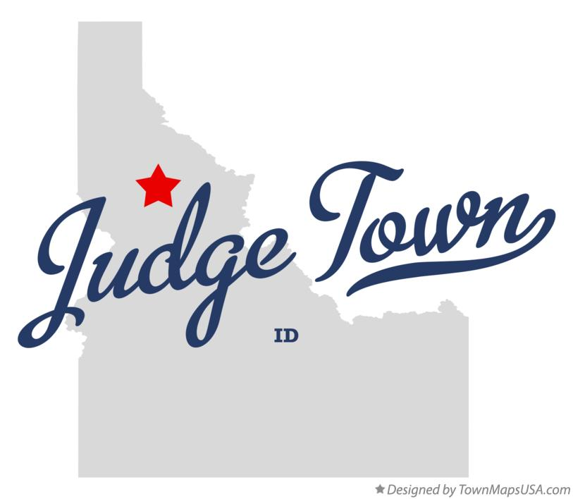 Map of Judge Town Idaho ID