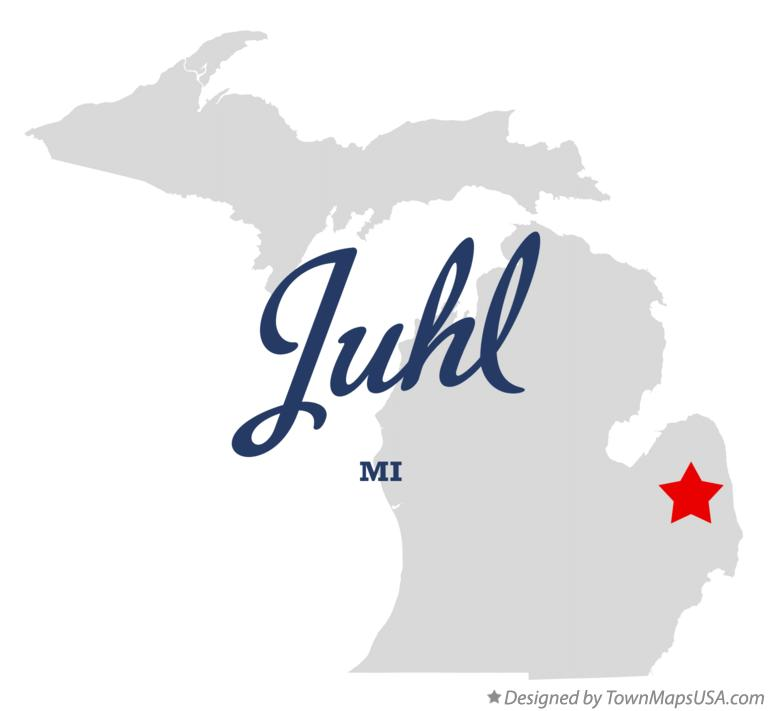 Map of Juhl Michigan MI