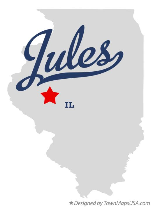 Map of Jules Illinois IL