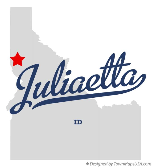 Map of Juliaetta Idaho ID