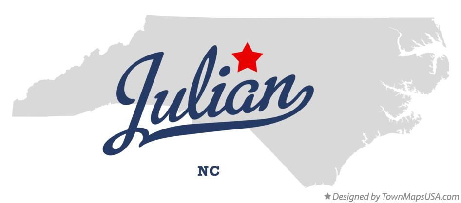 Map of Julian North Carolina NC