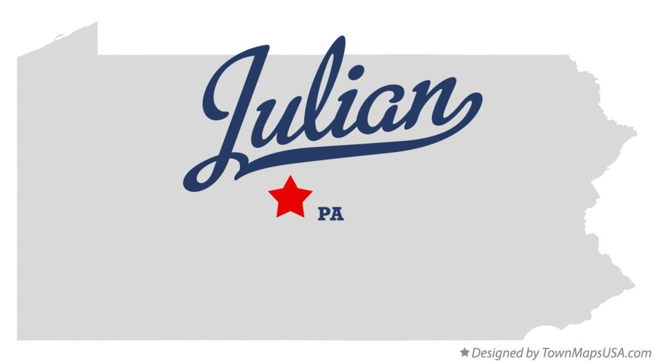 Map of Julian Pennsylvania PA