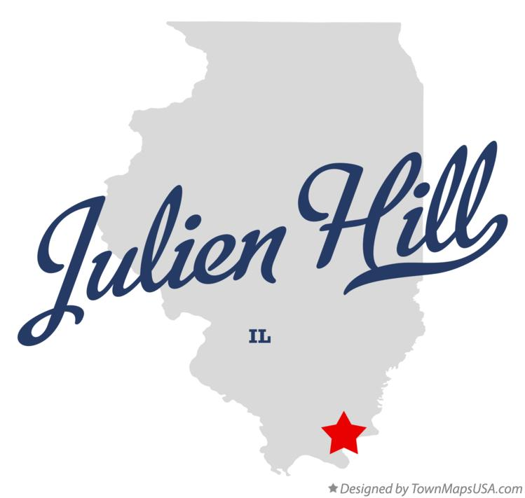 Map of Julien Hill Illinois IL