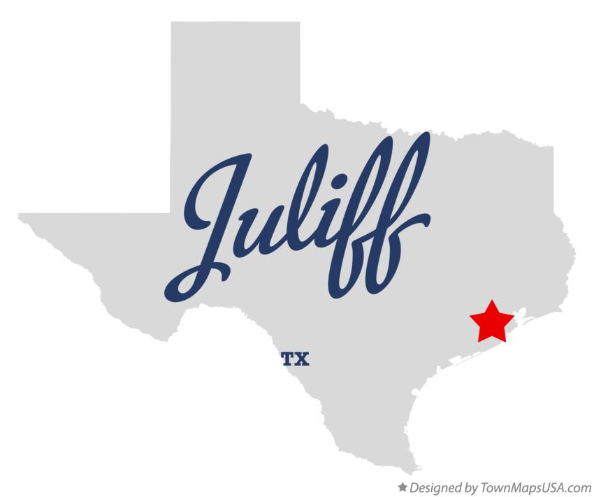 Map of Juliff Texas TX