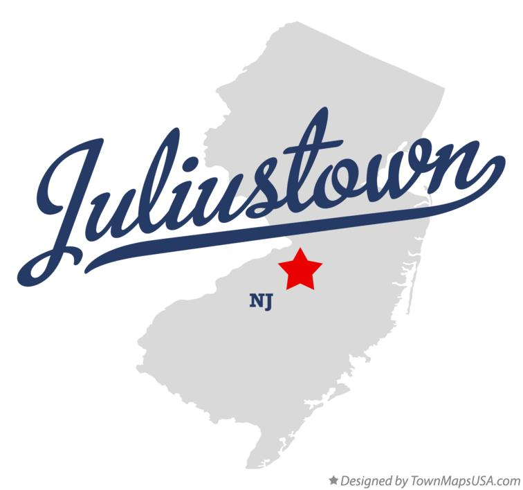Map of Juliustown New Jersey NJ