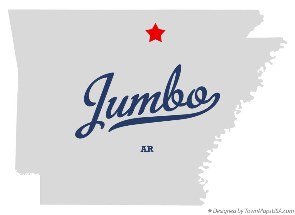 Map of Jumbo Arkansas AR
