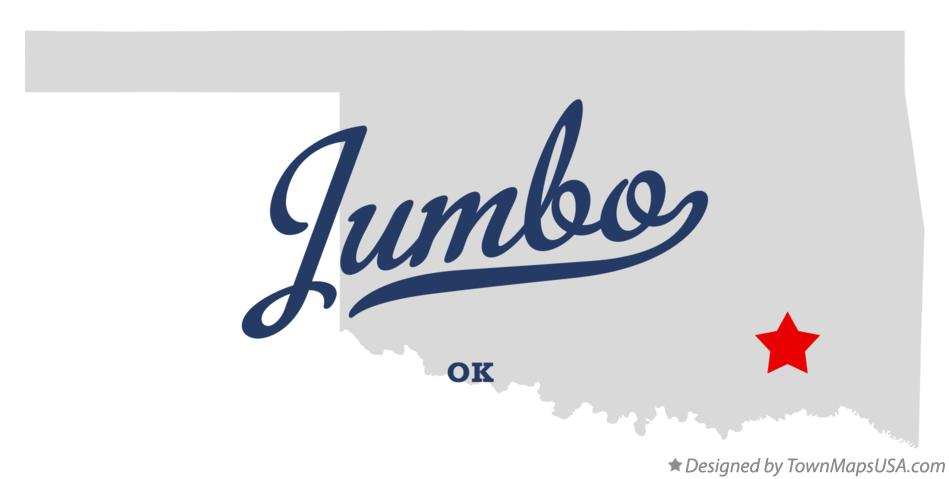 Map of Jumbo Oklahoma OK