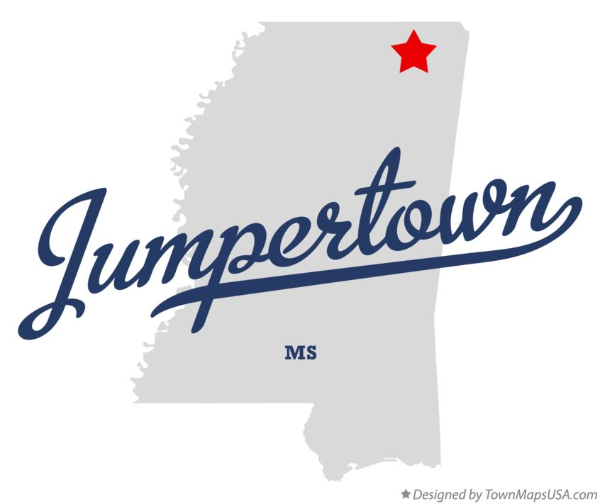 Map of Jumpertown Mississippi MS