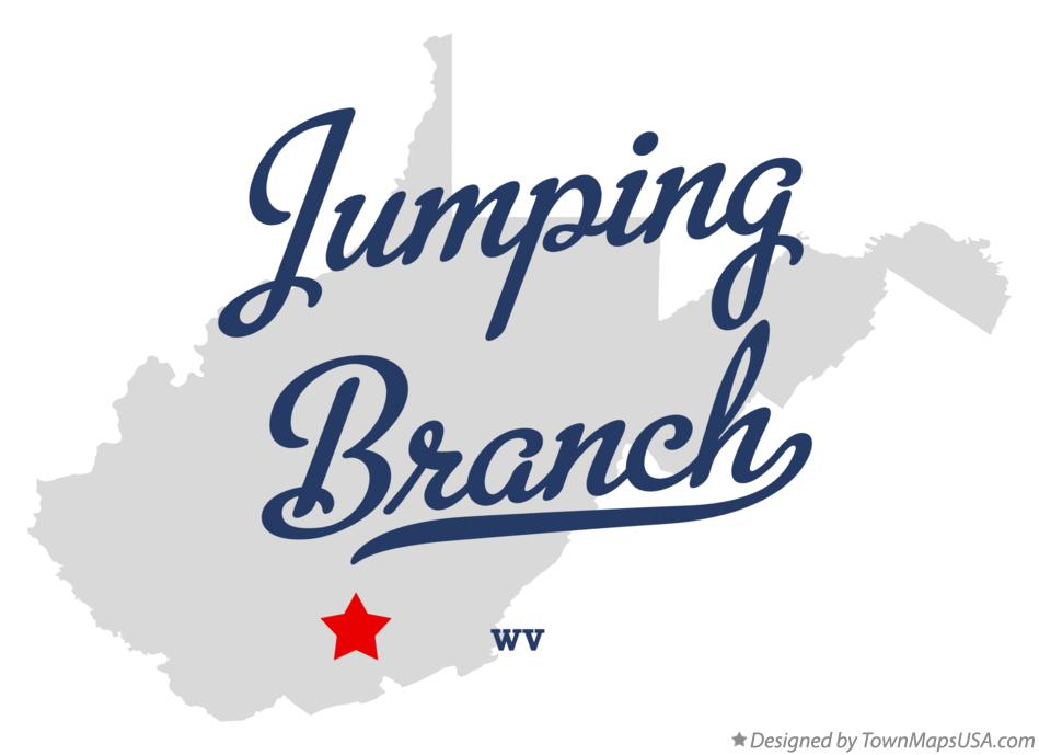 Map of Jumping Branch West Virginia WV