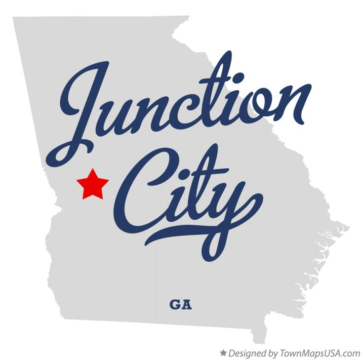 Map of Junction City Georgia GA