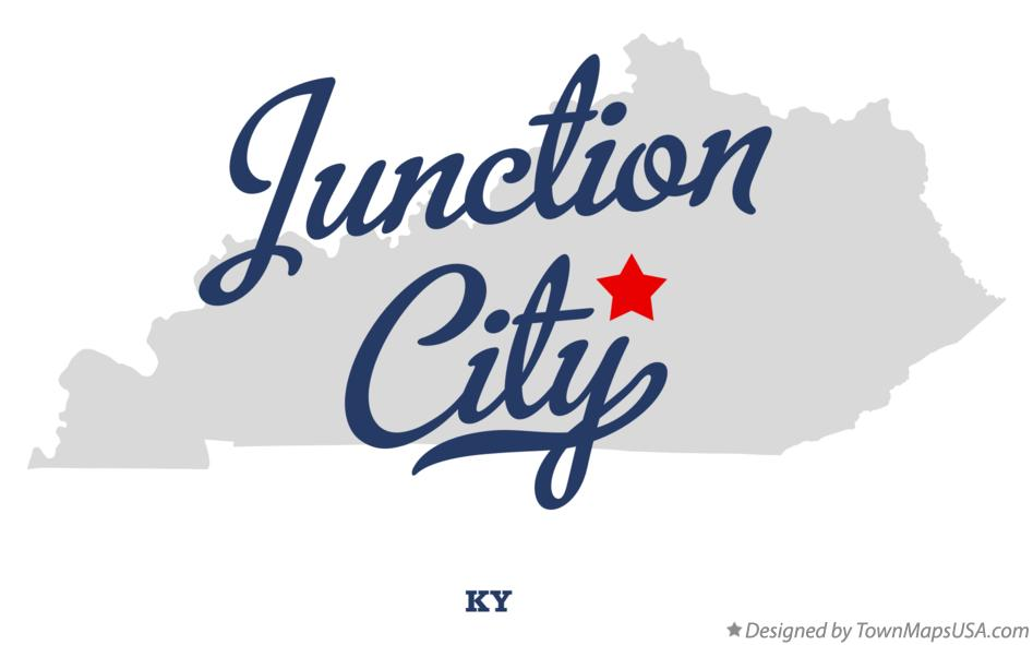 Map of Junction City Kentucky KY