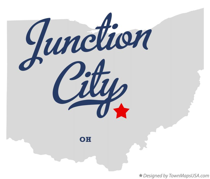Map of Junction City Ohio OH