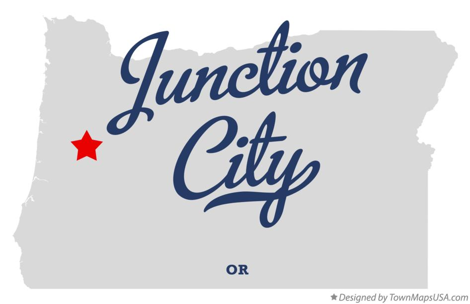 Map of Junction City Oregon OR