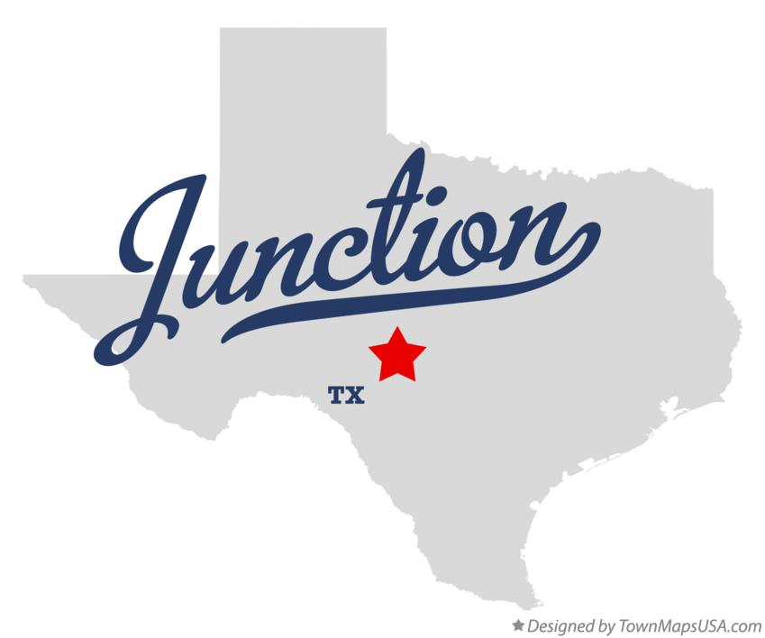 Map of Junction Texas TX