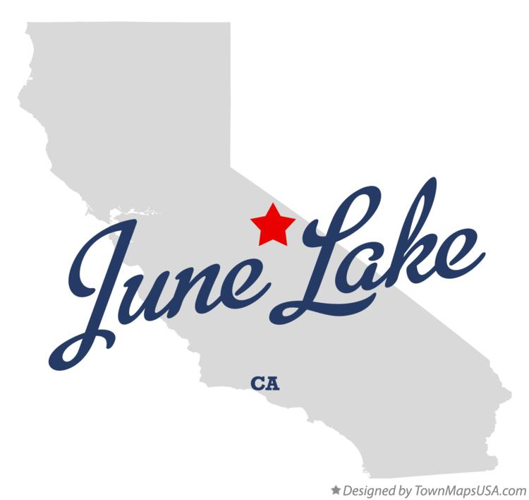 Map of June Lake California CA