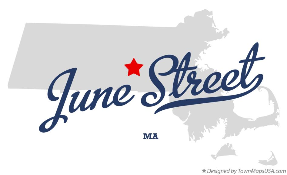 Map of June Street Massachusetts MA