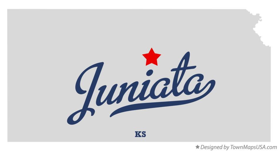 Map of Juniata Kansas KS