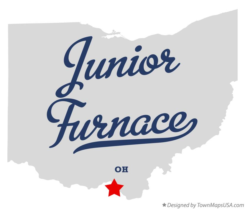 Map of Junior Furnace Ohio OH