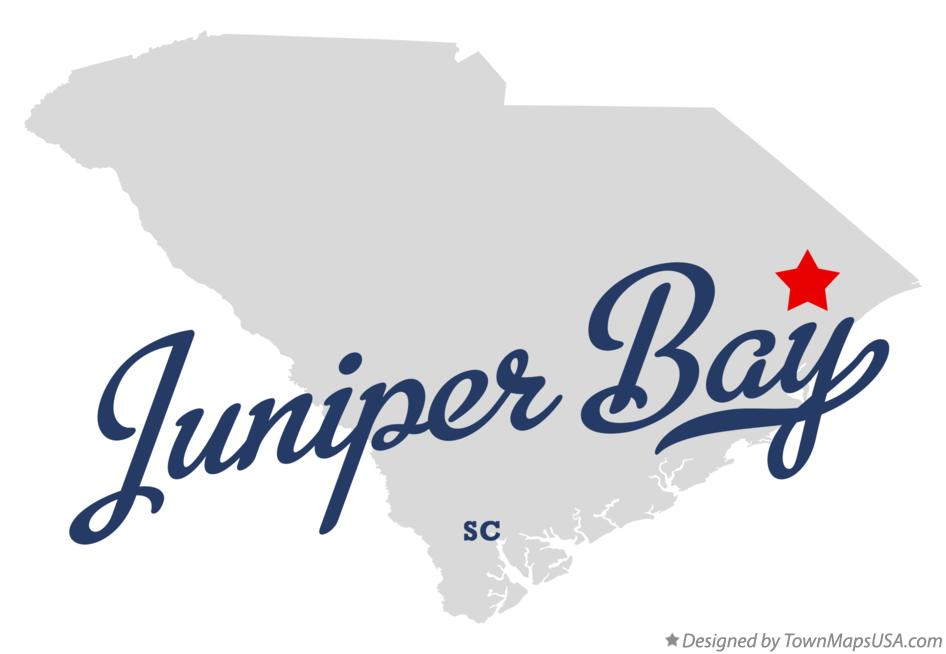 Map of Juniper Bay South Carolina SC