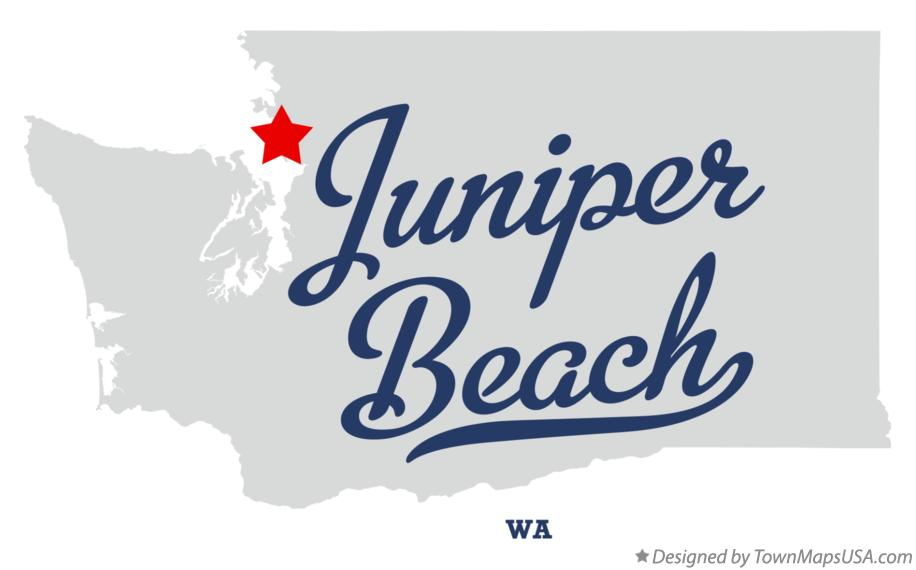 Map of Juniper Beach Washington WA