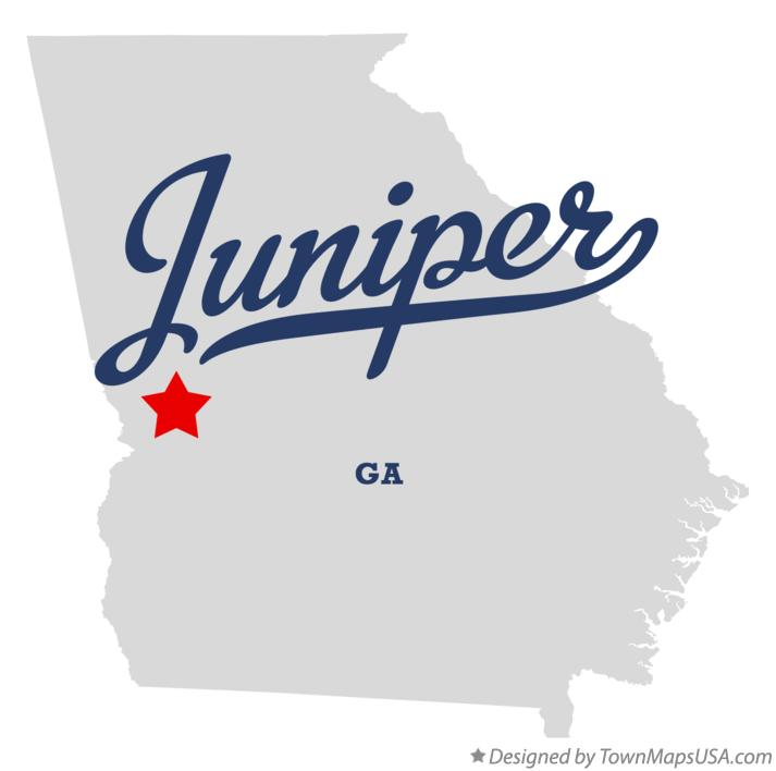 Map of Juniper Georgia GA