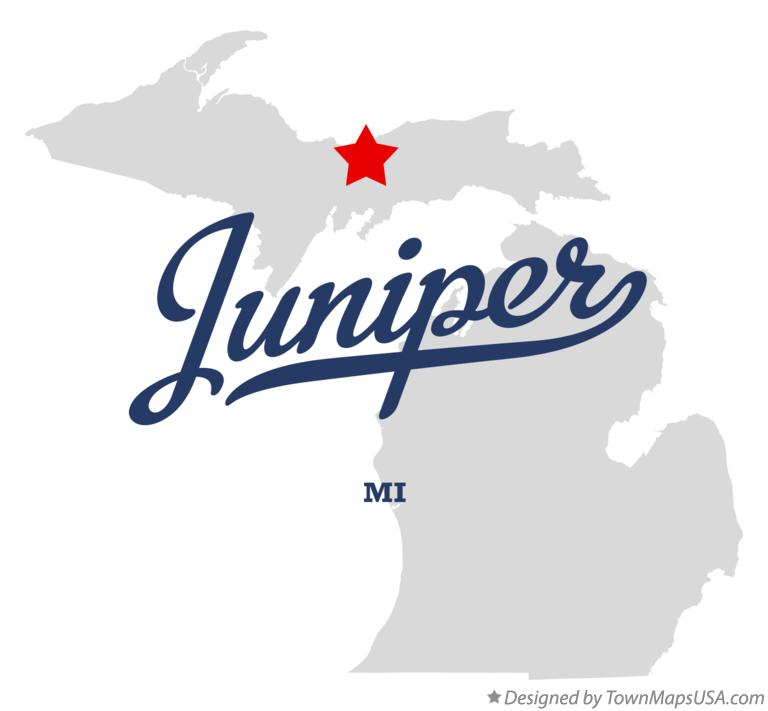 Map of Juniper Michigan MI