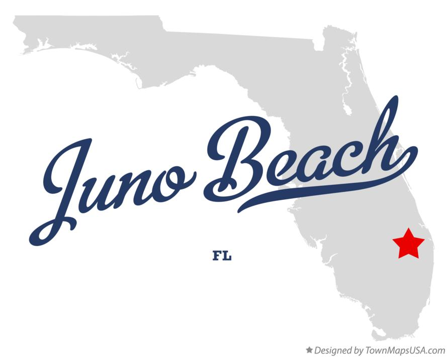 Map of Juno Beach Florida FL