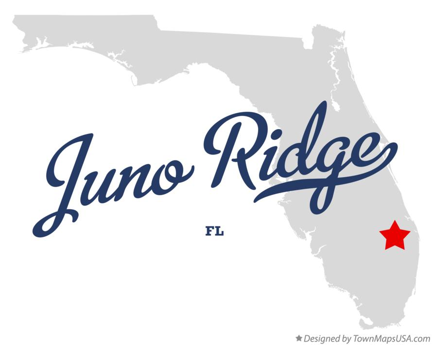 Map of Juno Ridge Florida FL