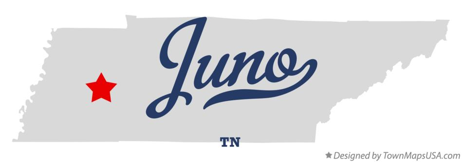 Map of Juno Tennessee TN