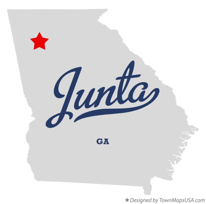 Map of Junta Georgia GA