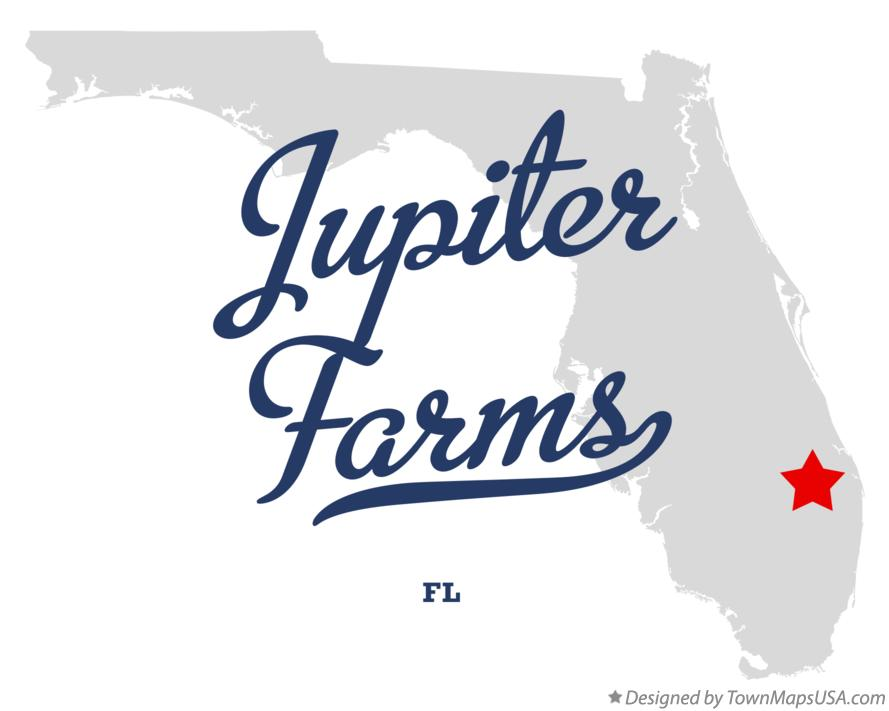 Map of Jupiter Farms Florida FL