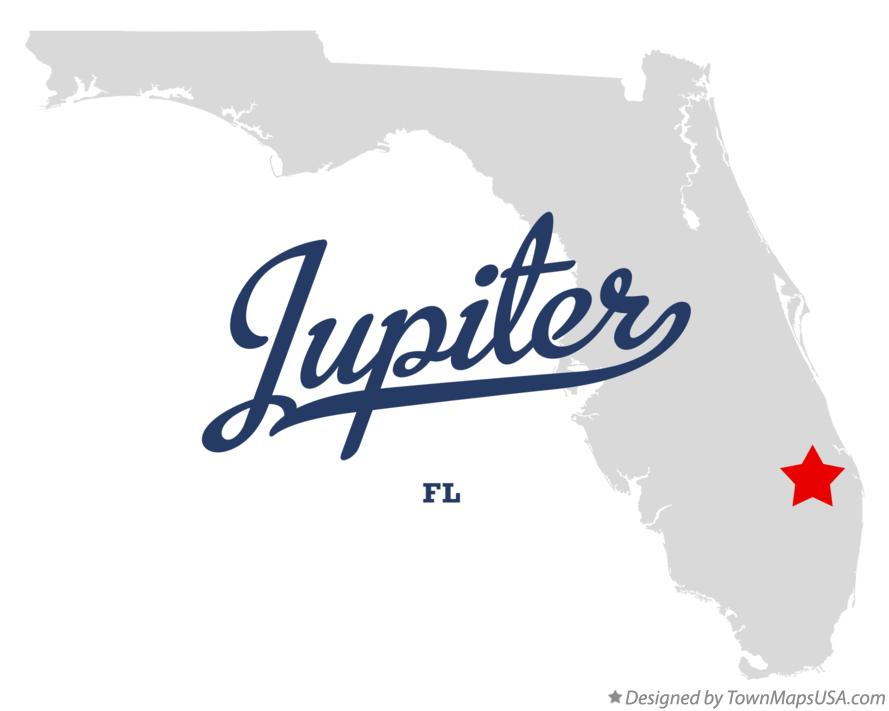 Map Of Florida Showing Jupiter.Map Of Jupiter Fl Florida