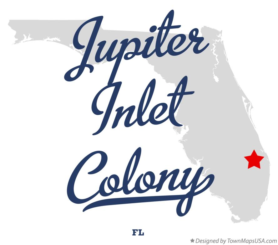 Map of Jupiter Inlet Colony Florida FL