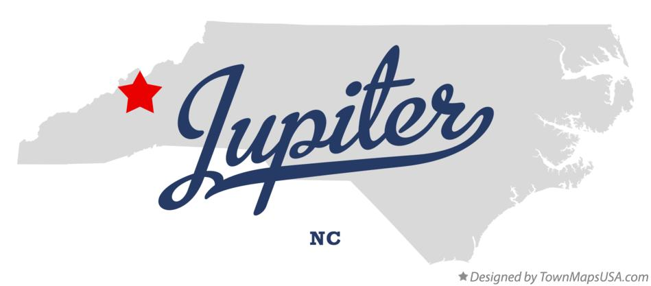 Map of Jupiter North Carolina NC
