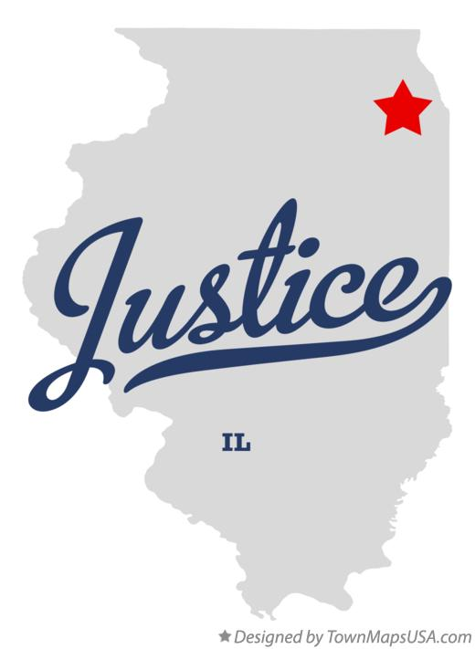 Map of Justice Illinois IL