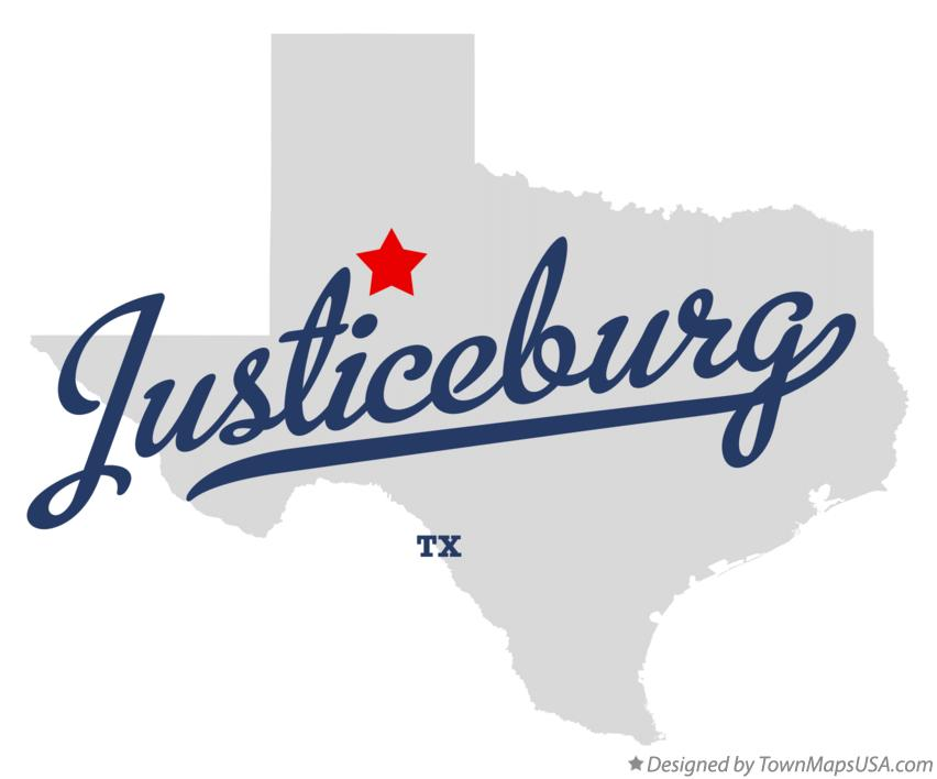 Map of Justiceburg Texas TX