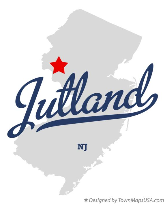 Map of Jutland New Jersey NJ