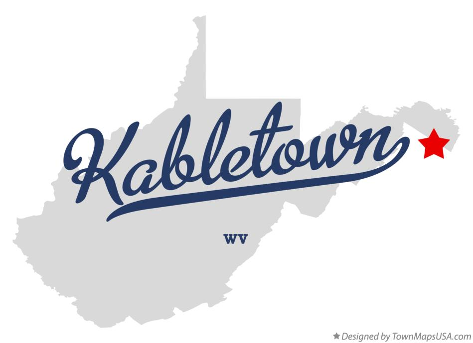 Map of Kabletown West Virginia WV