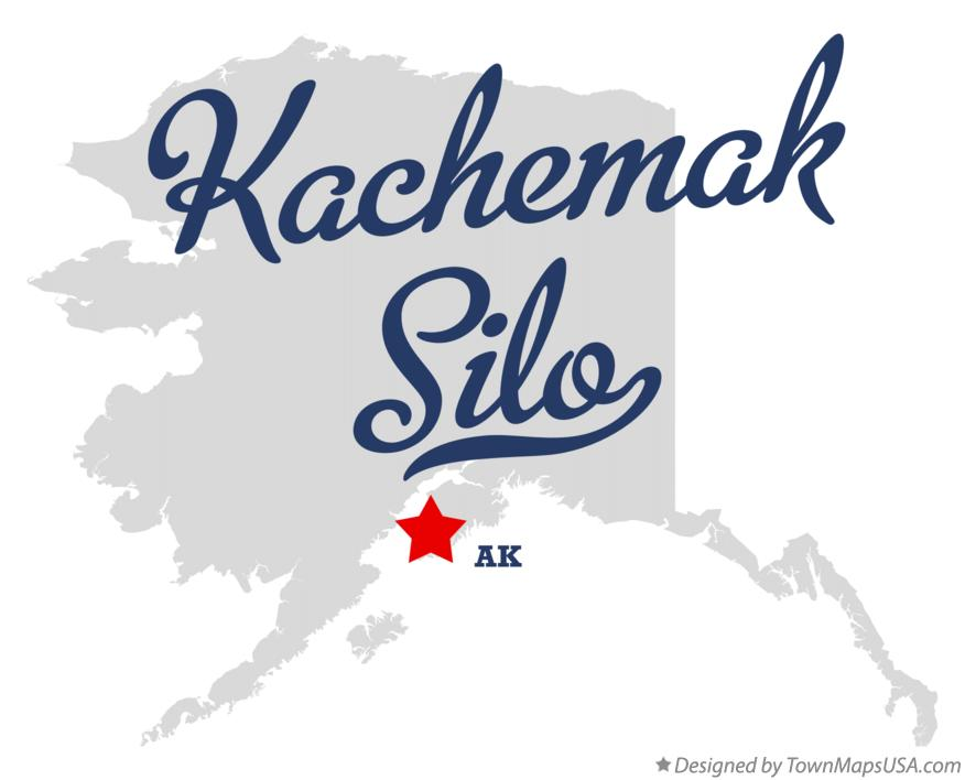 Map of Kachemak Silo Alaska AK