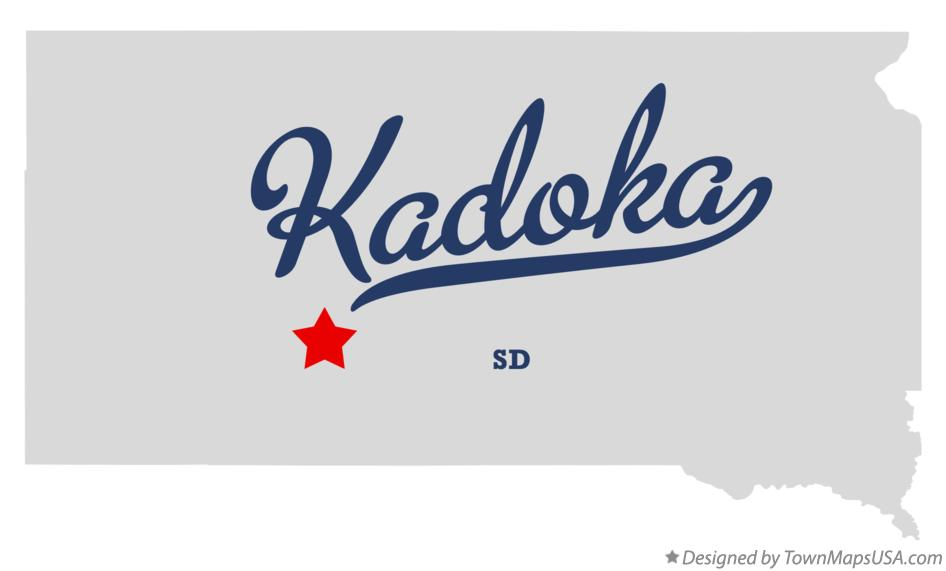 Map of Kadoka South Dakota SD