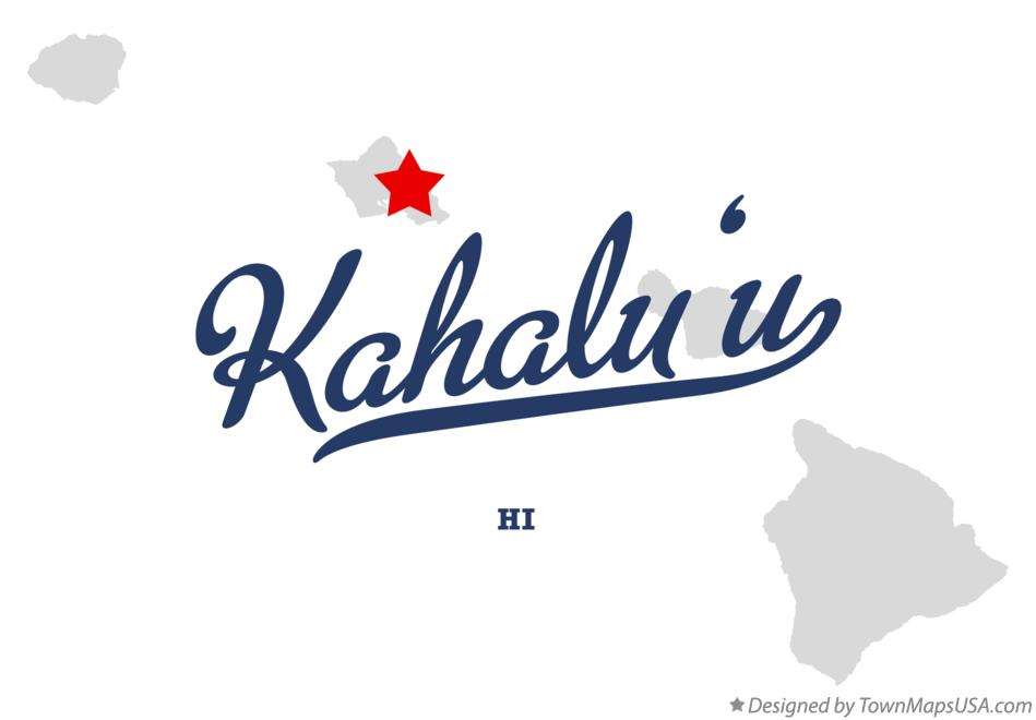 Map of Kahalu'u Hawaii HI