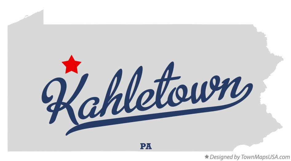 Map of Kahletown Pennsylvania PA