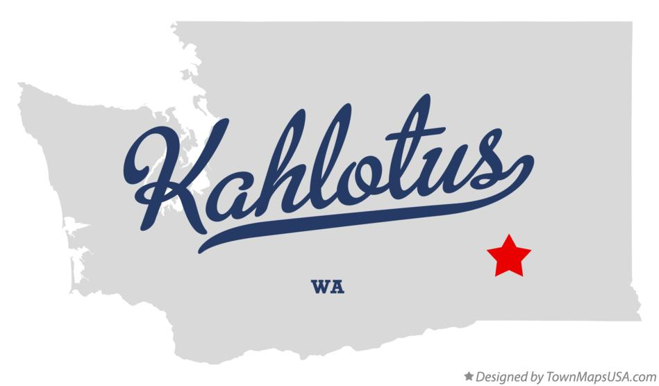 Map of Kahlotus Washington WA