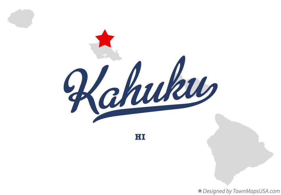 Map of Kahuku Hawaii HI