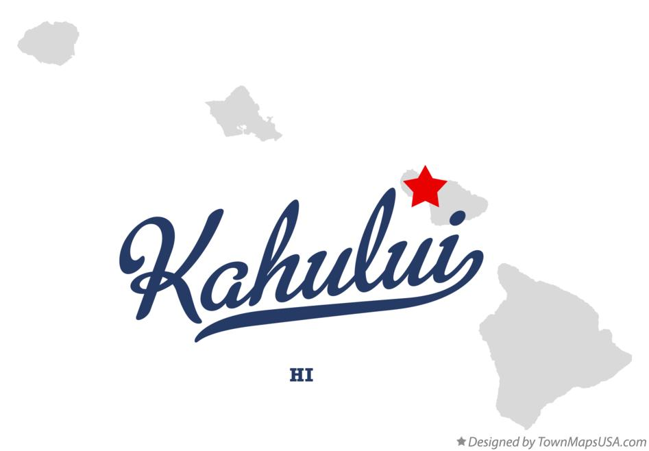 Map of Kahului Hawaii HI