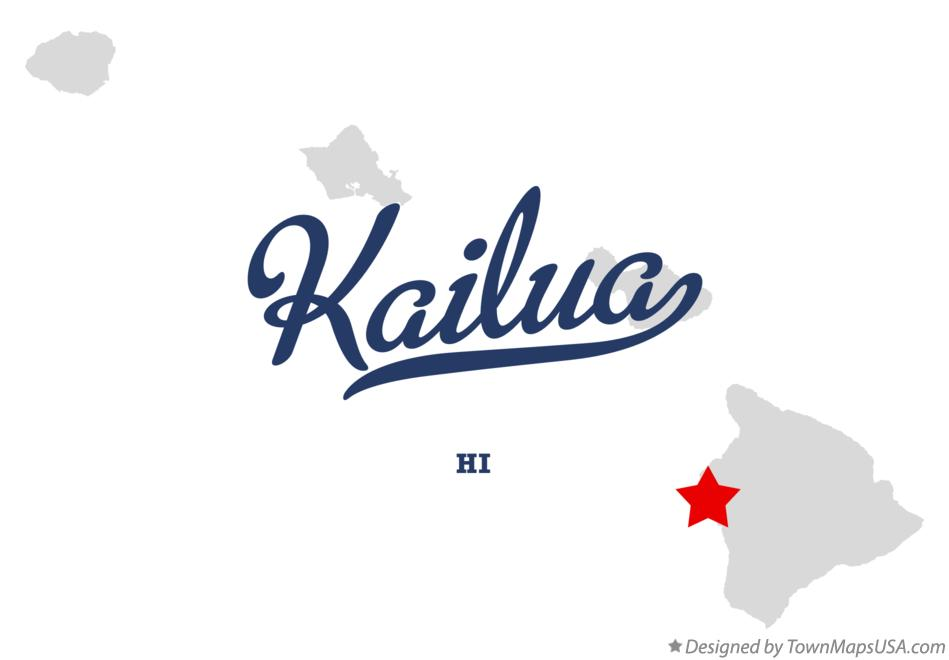 Map of Kailua Hawaii HI